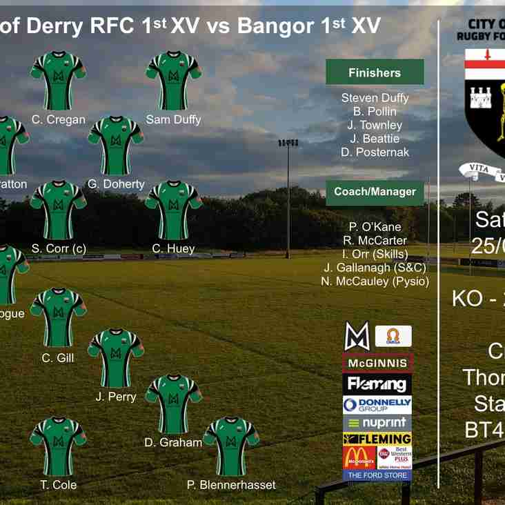 City of Derry RFC 1st XV Match Preview