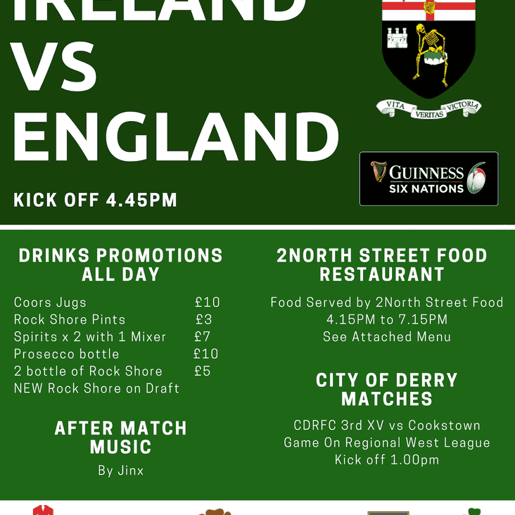 6 Nations Rugby at the club!