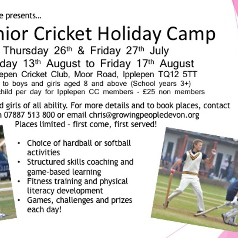 Holiday Cricket Camps Are Coming!