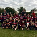 Benedict Stone scores for Wymondham Rugby Football Club