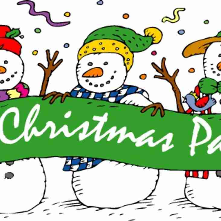 Youth Section Christmas Parties - Updated 13/11