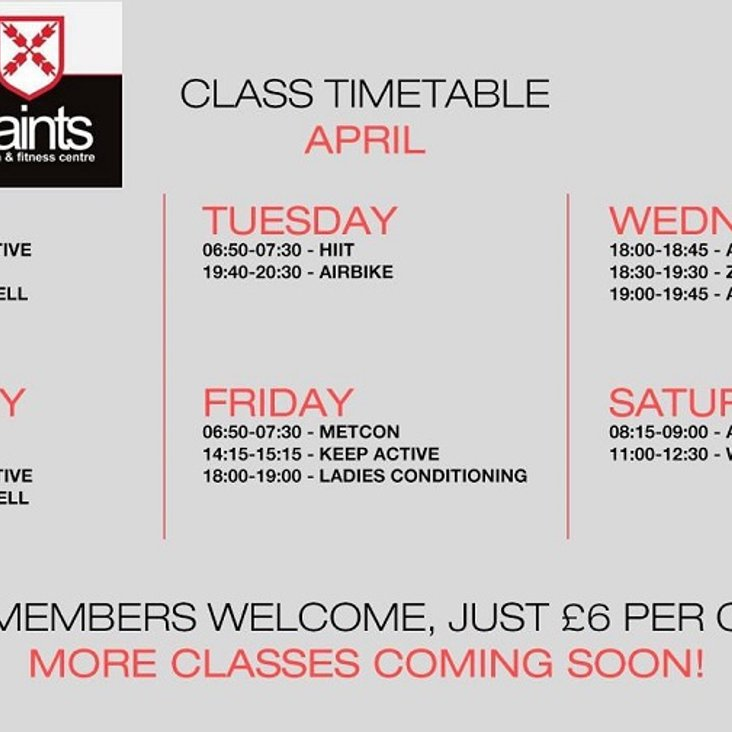 New Fitness Classes at Saints Gym<