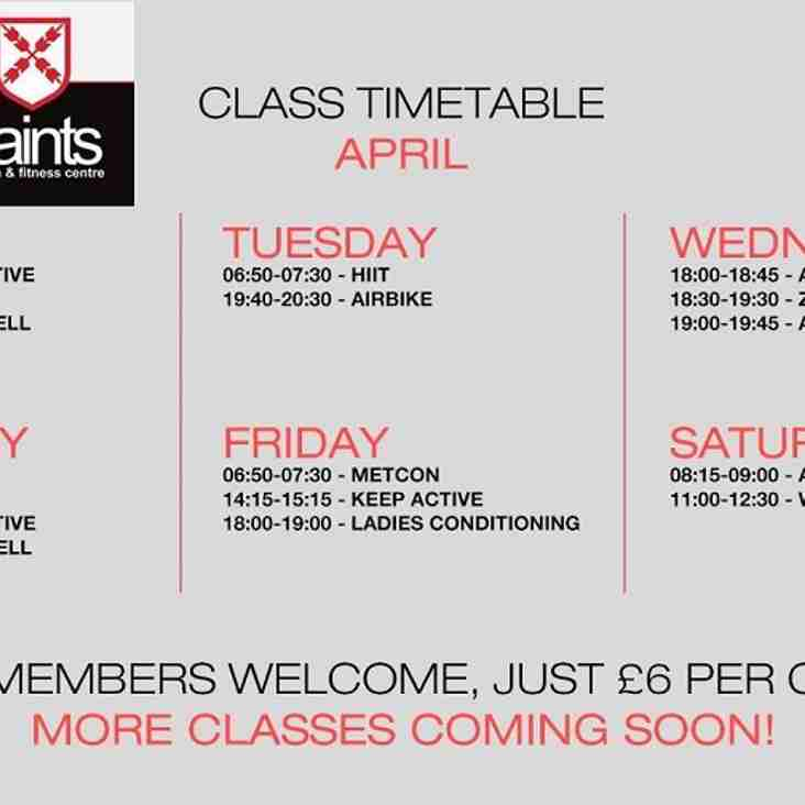 New Fitness Classes at Saints Gym