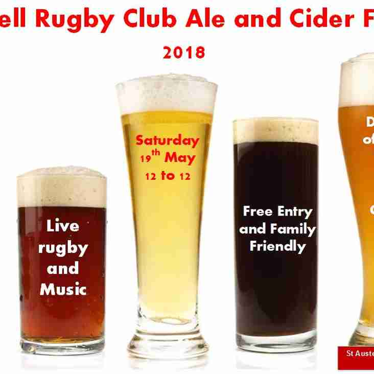 St Austell Rugby Club Ale and Cider Festival 2018
