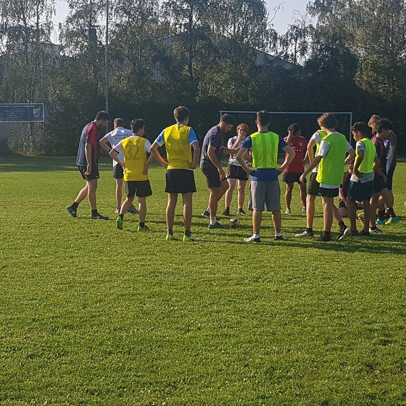 Boys U18 beat Bavarian International School 90 - 5