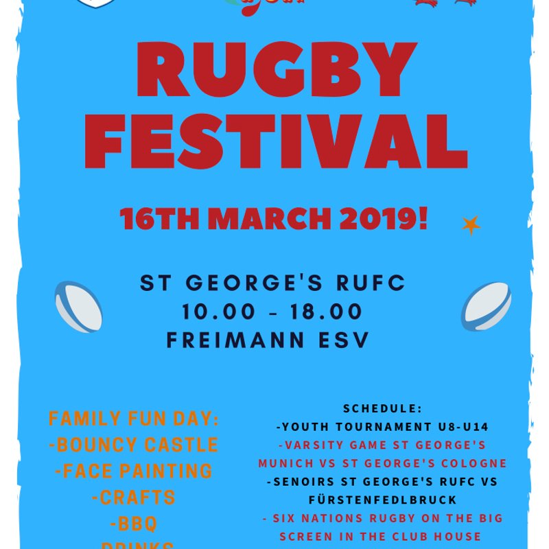 St George's Rugby Rugby Festival - 16th March