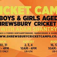 Cricket Camps with Adam Shantry - book now