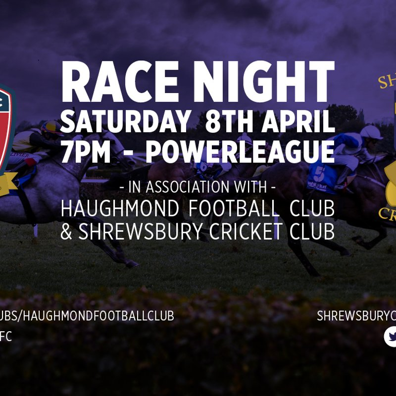 Help raise funds for Shrewsbury Cricket Club at our Racenight