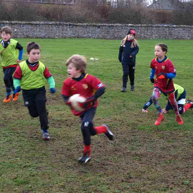 Training 1st Dec pop, pass & attack
