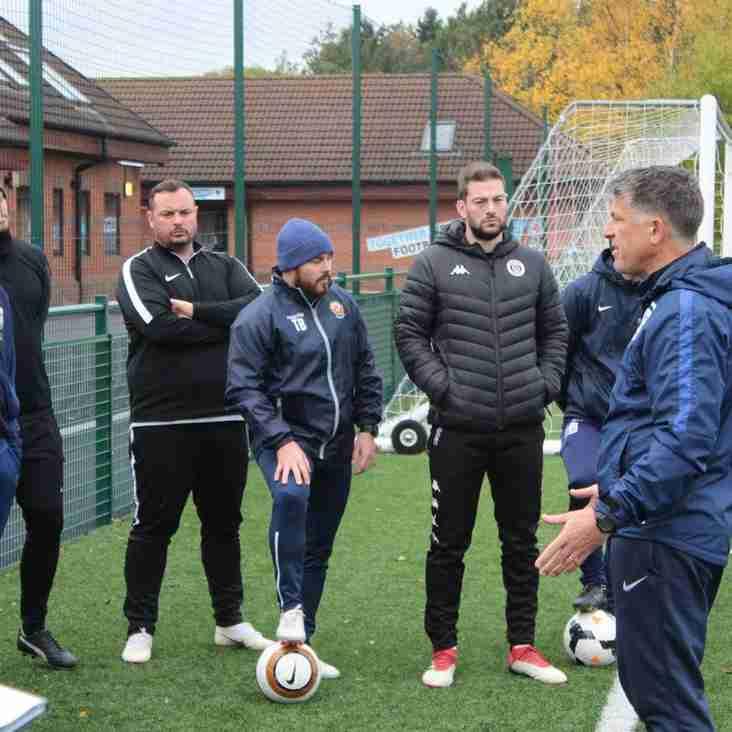 West Riding coaches take UEFA B course