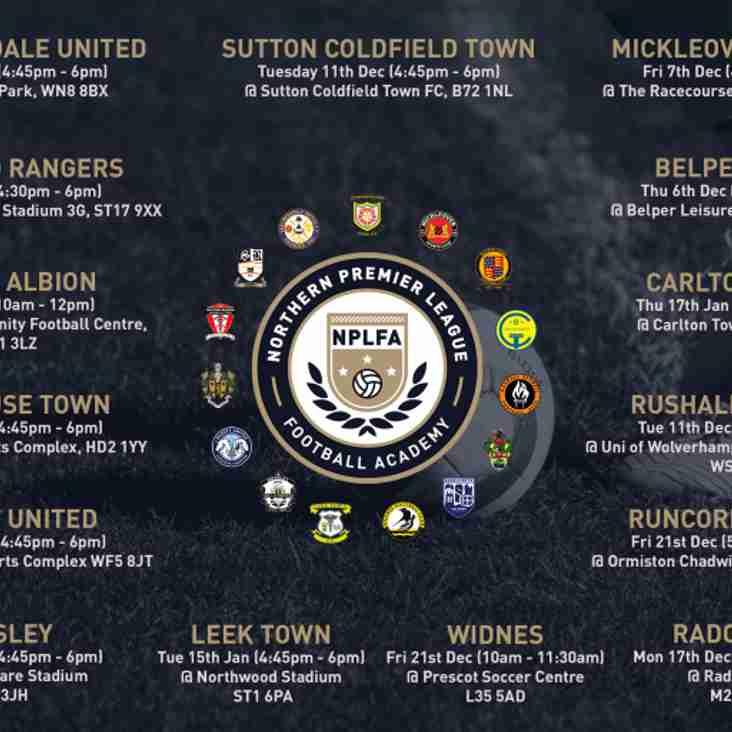 NPLFA winter trial dates