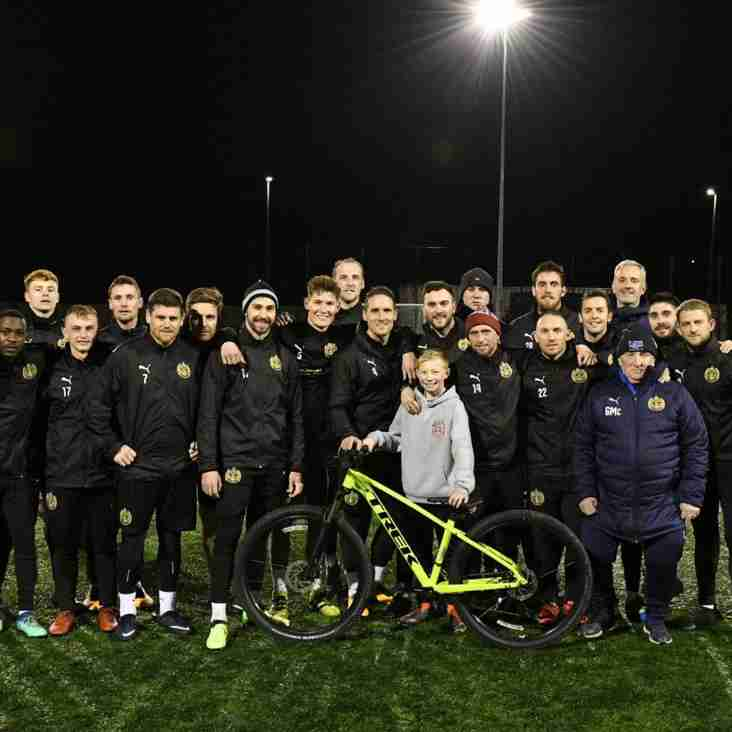 South Shields get a bike for Jak