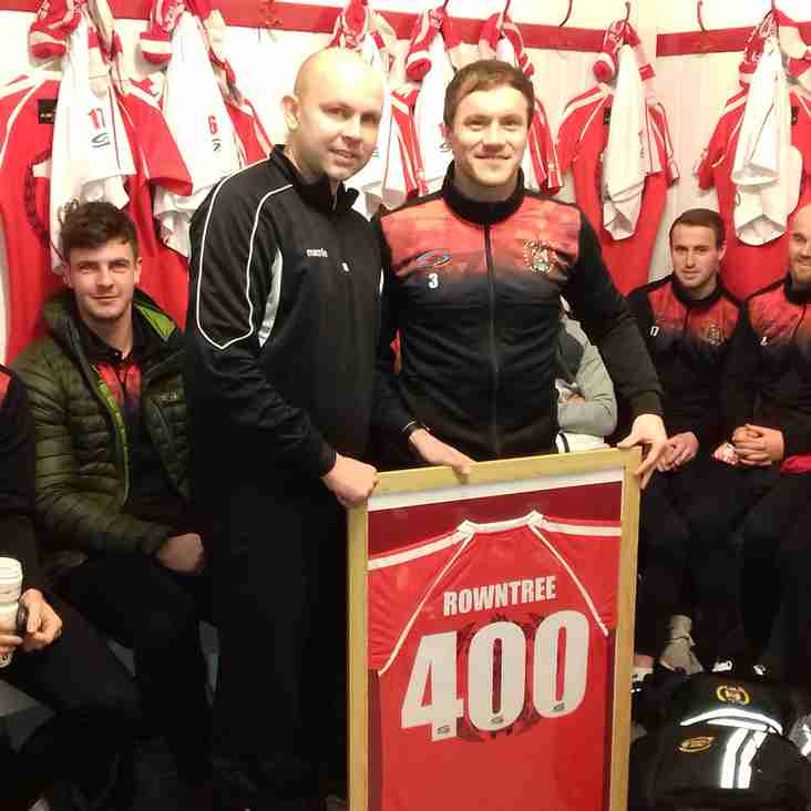Rowntree hits 400 appearances for Reds