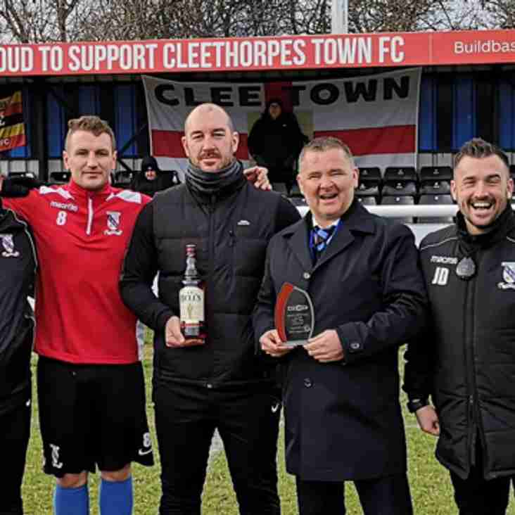 Cleethorpes receive Club of the Month award