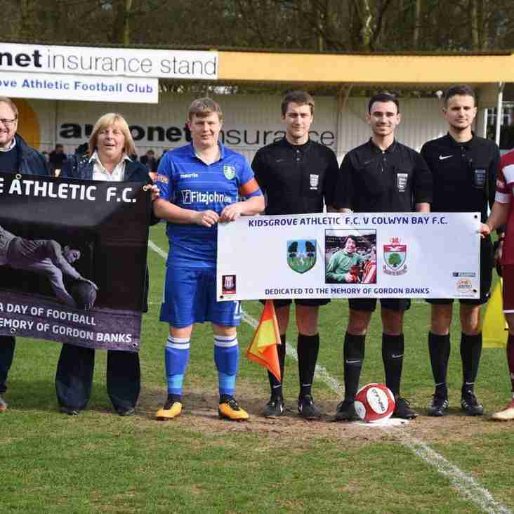 Kidsgrove pay tribute to Gordon Banks