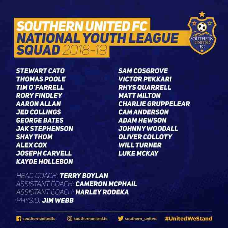 Announcement: Here it is your 2018/19 National Youth League Squad