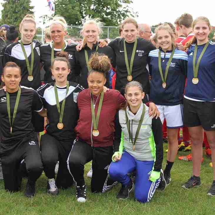 Maidenhead Ladies receive Gold medals at Over the Top tournament!