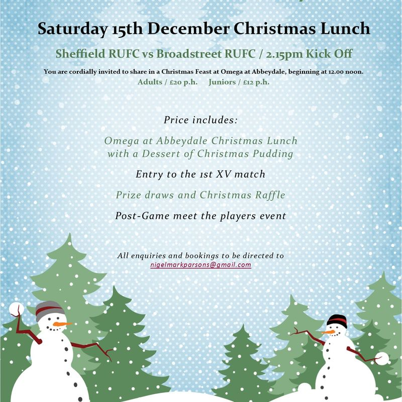 Omega @ Abbeydale Christmas Lunch - 15th December