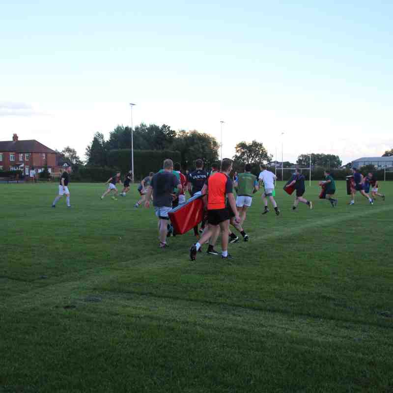 First training at the club 2017-2018 There was a record crowd attending too.