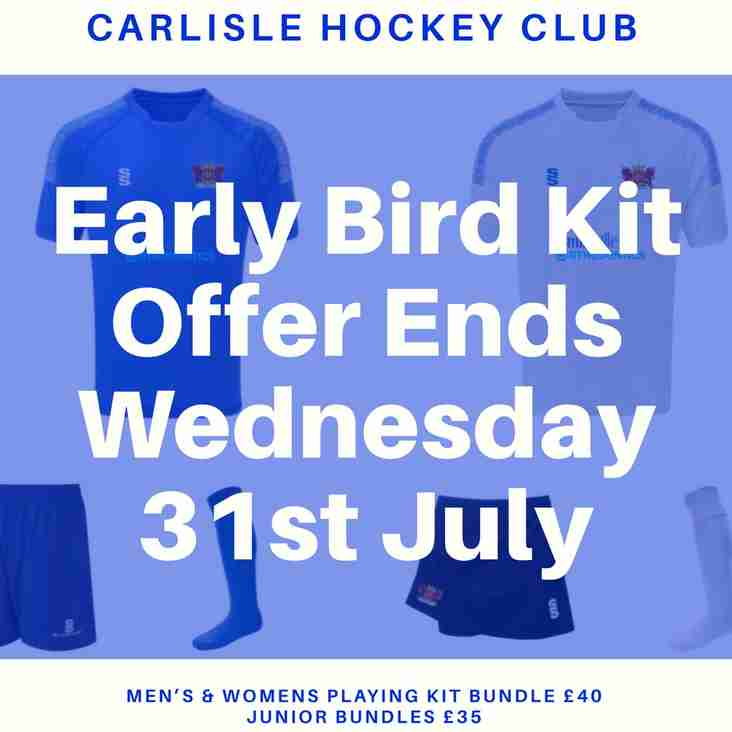 Club Kit - Early Bird Offer - 1 Day To Go
