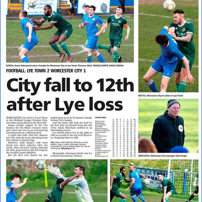 Lye Town Vs  WCFC  Fc 2-1 Pix@PaulFrance.co.uk WorcesterNews