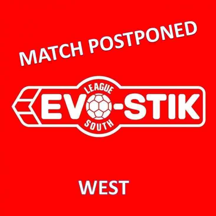 Evo-Stik League South - West Fixture - Match Postponed