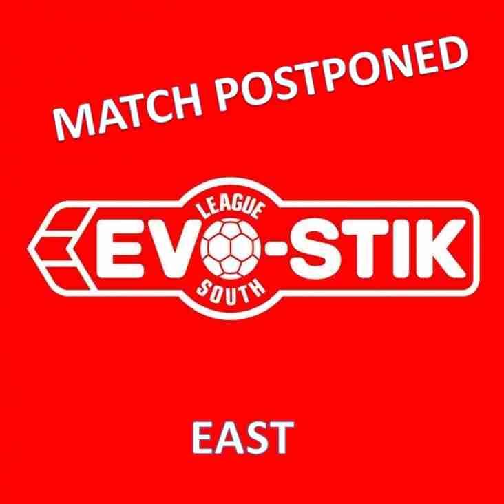 Tonight's Evo-Stik League South - East Fixture - Match Postponed