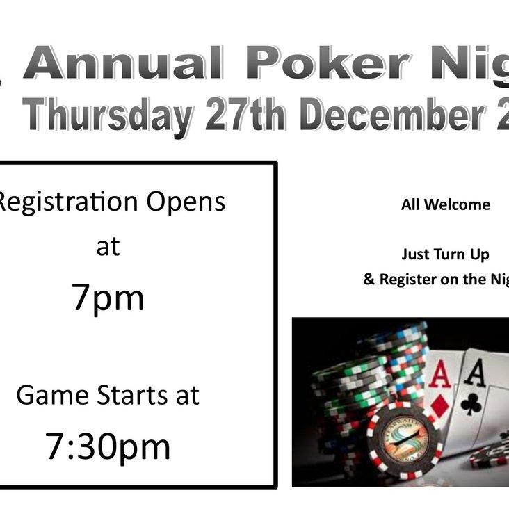 Annual Poker Night<