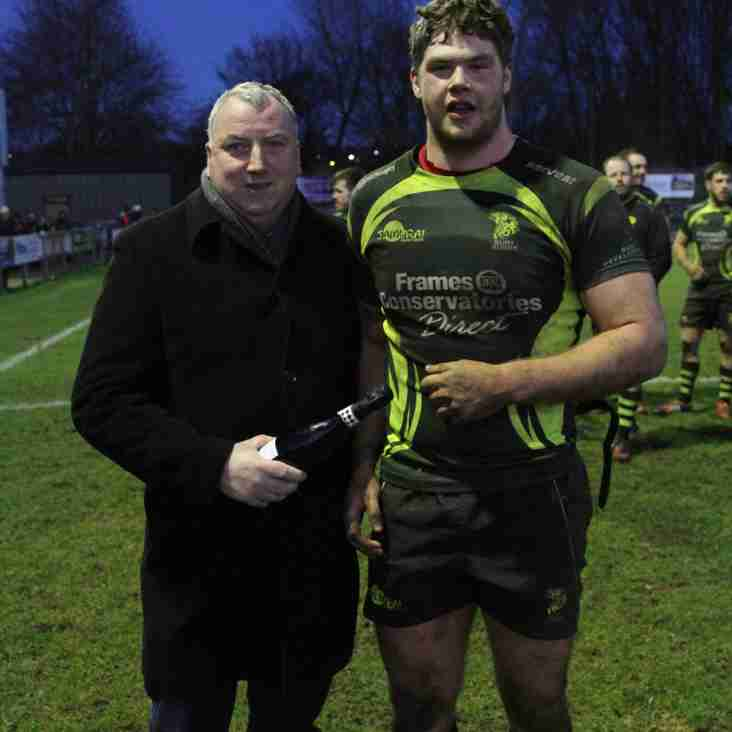 Toby Trinder named St Edmunds Butchers Man of the Match