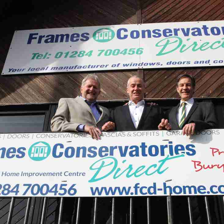 Frames Conservatories Direct to host celebration of 10 years as Main Club Sponsor