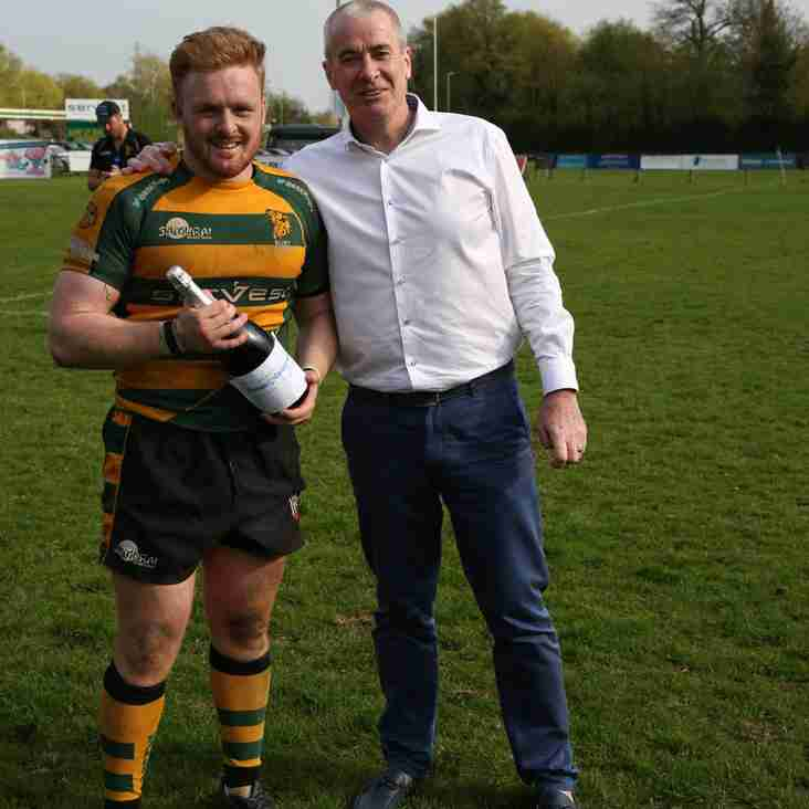 Tristan King is named Frames Conservatories Direct Man of the Match
