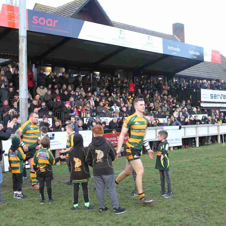 A large IPA Haberden crowd see  Bury's winning streak ended by the all conquering Rams