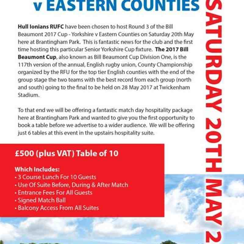 Yorkshire v Eastern Counties