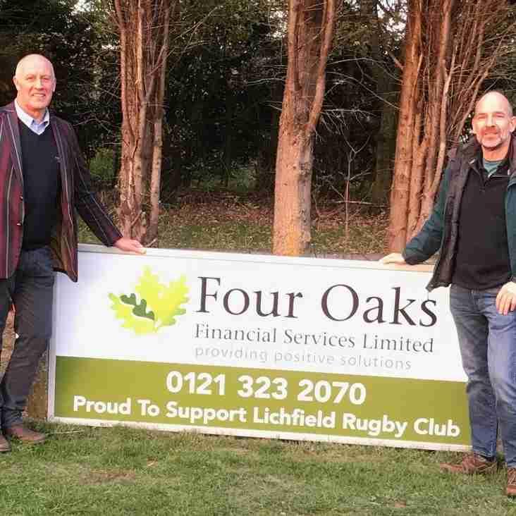 Local Financial Adviser Firm Throws Their Support Behind Lichfield Rugby Club