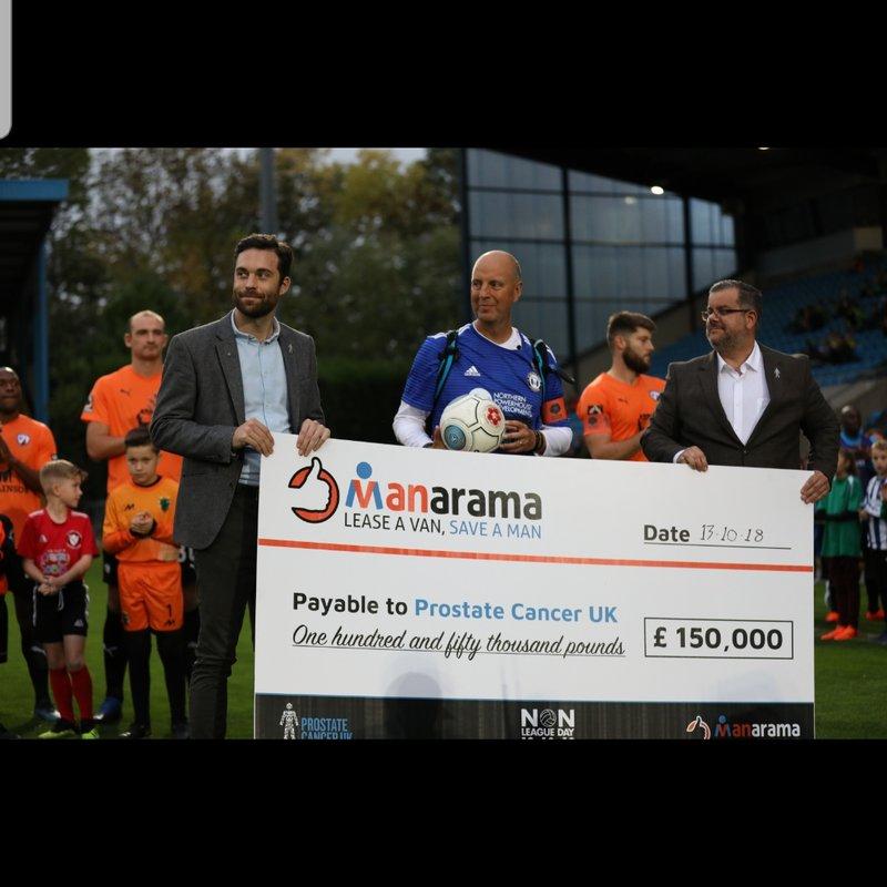 #MANarama National League campaign raises £150000 for Prostate Cancer Uk