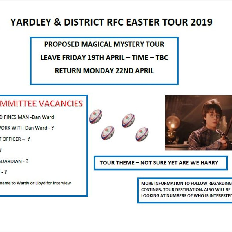 YDRFC Easter Tour 2019