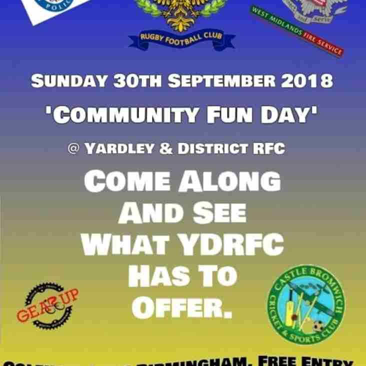Community Fun Day 30th September 2018