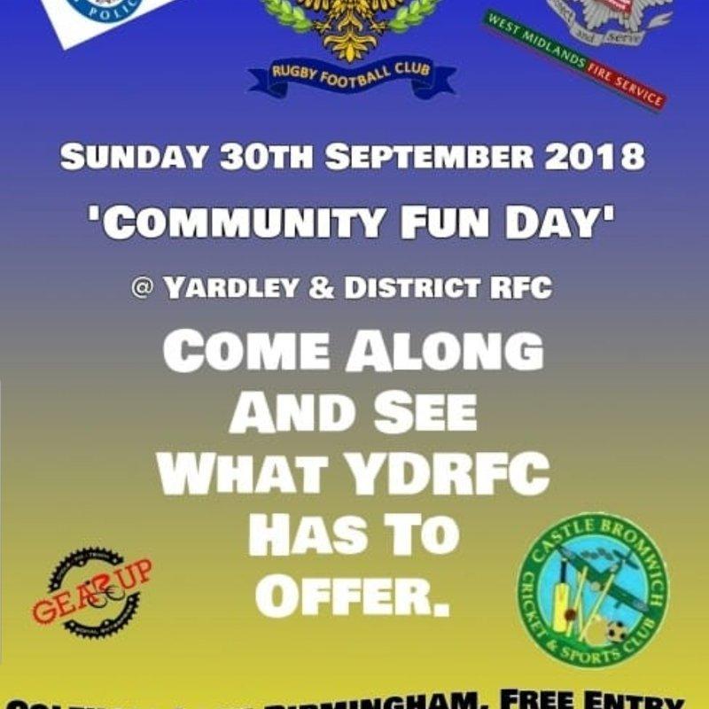 Community Fun Day 30th September 2018