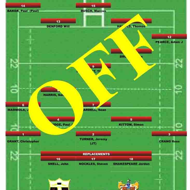 GAME OFF Cullompton RFC v Torquay Athletic RFC