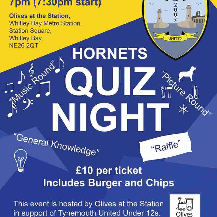 Quiz night in May all welcome