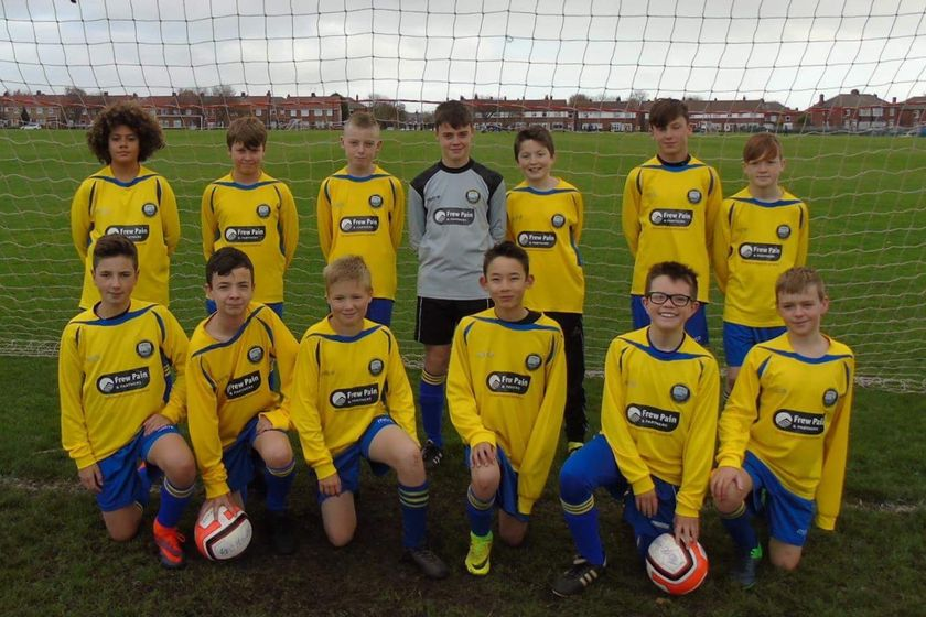 Under 13 United beat Blyth Spartans white 2 - 1