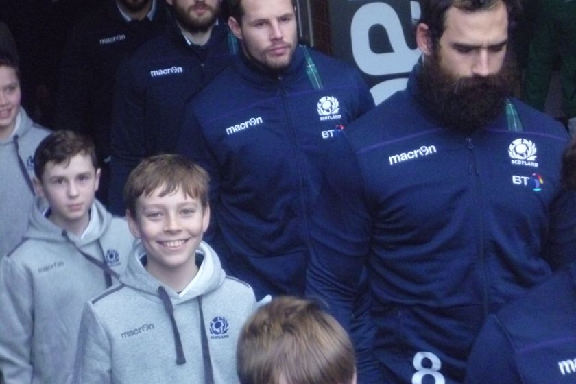 Player Escort Duty at Murrayfield