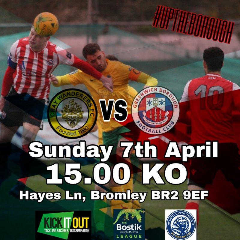 Cray wanderers FC vs Greenwich Borough FC