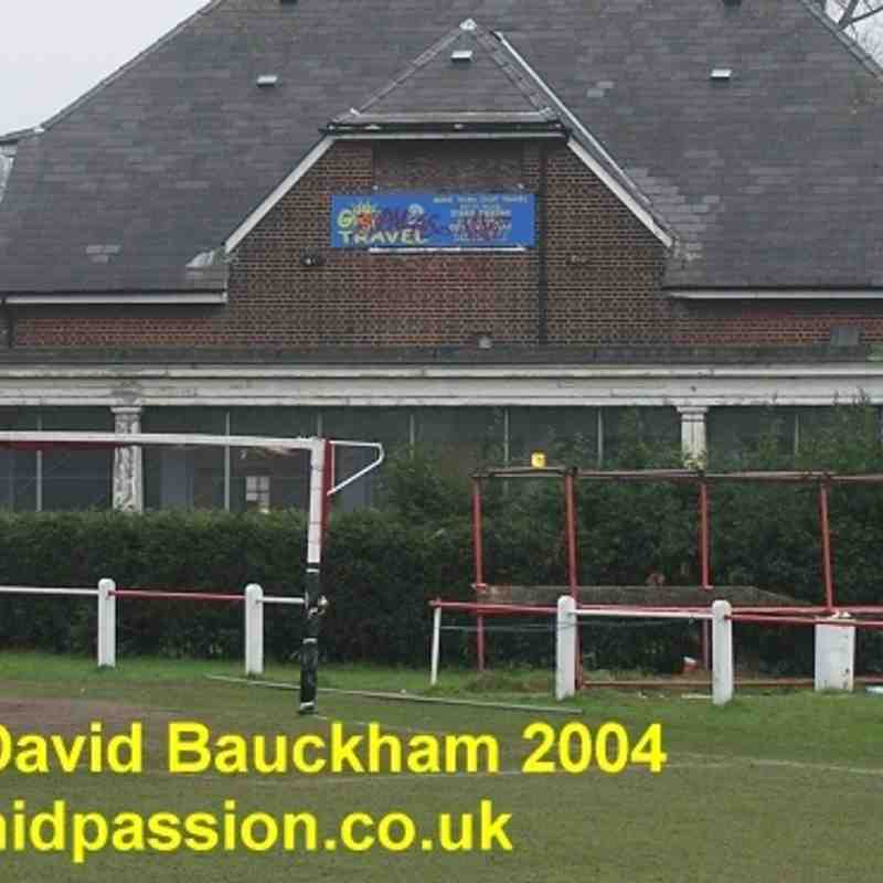 Greenwich Borough FC old Harrow Meadow ground