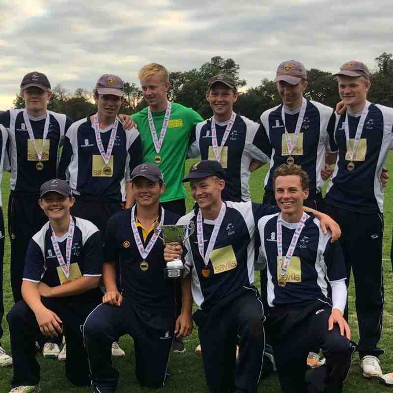 2018 - Cranleigh U19s win the Surrey Vitality Club Competition