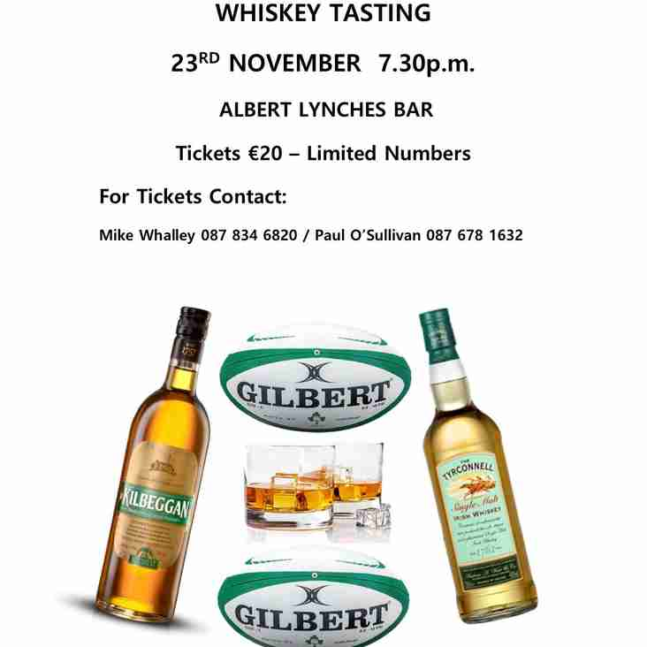 Mallow RFC Whiskey Tasting Evening
