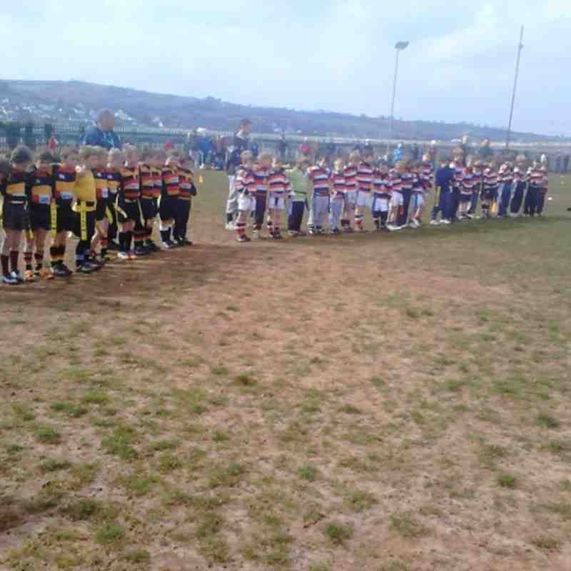 Honiton v Teignmouth under 7 & 8's showing respect