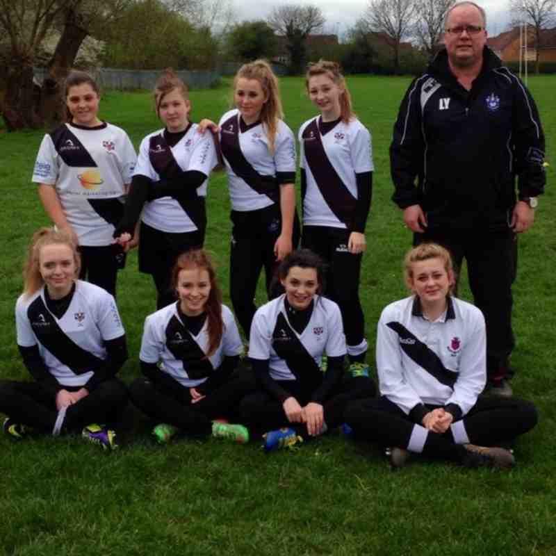 BRFC U13s Girls 15 v Melbourne U13s Girls 1........06/04/2014