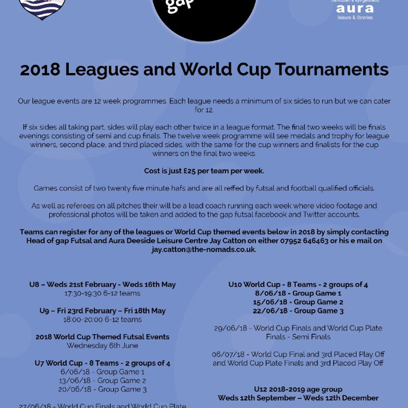2018 Leagues and World Cup Events Announced