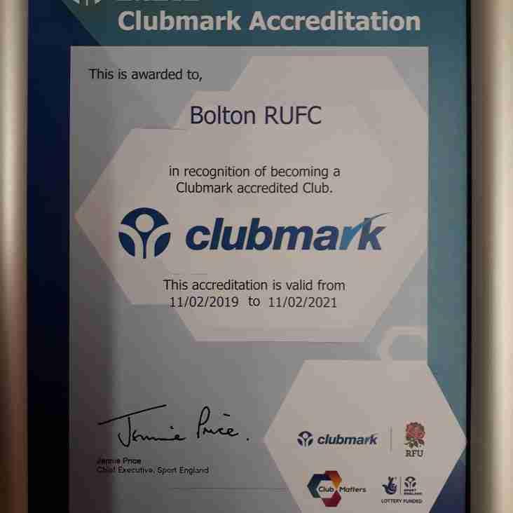 Clubmark Accreditation 2019